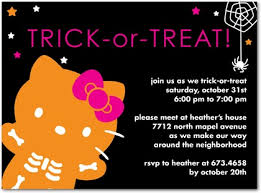 halloween birthday party invite wording kitty halloween