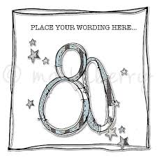 personalised age 80 birthday cards 80th birthday card 80 cards