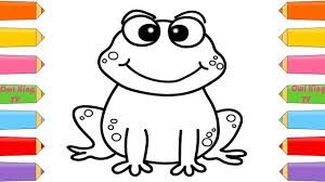 how to draw frog coloring pages animals for kids art colors for