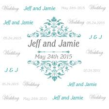 wedding backdrop banner custom step and repeat banner design for wedding blue monogram
