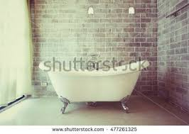 Decoration In Bathroom Beautiful Luxury Vintage Bathtub Decoration Bathroom Stock Photo