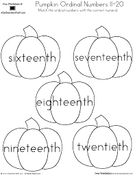 pumpkin ordinal numbers 1 20 a to z teacher stuff printable