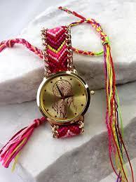 red friendship bracelet images Dreamcatcher friendship bracelet watch red pretty missy inc jpg