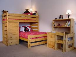 Bunk Beds Twin Over Full With Desk Twin Over Full L Shaped Bunk Bed With Desk Home Design Ideas