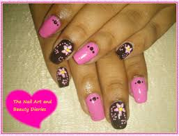 easy at home nail art 22 u2013 the pink fairy and the black witch nail