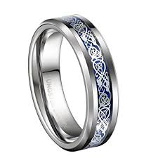 tungsten women rings images Queenwish 6mm tungsten wedding band celtic dragon jpg