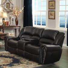 Loveseat Recliner With Console Homelegance Center Hill Doble Glider Reclining Loveseat W Center