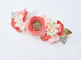 felt flower headband felt flower crown floral crown baby flower crown