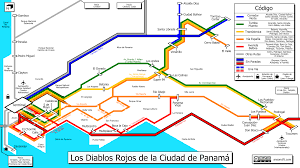 map of panama city mapa de los diablos rojos panama city transit map ansoncfit