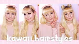 kawaii hairstyles no bangs simple kawaii hairstyles back to school youtube