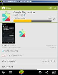 login services apk android play services installation on bluestacks is