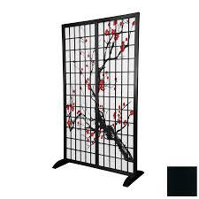 privacy room dividers shop oriental furniture room dividers 1 panel black indoor privacy