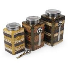 food canisters kitchen earthy kitchen food canisters with magnetic spoons polyvore