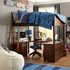 Loft Bed With Desk On Top Mixing Work With Pleasure Loft Beds With Desks Underneath