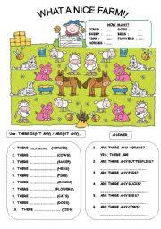 english worksheet there is are animals b u0026w version included
