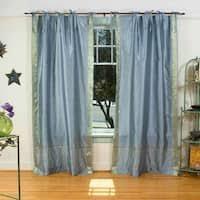 Sari Fabric Curtains 84 Inch Brown Ring Top Sheer Sari Curtain Drape Window Panel