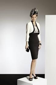 condici 70782 dress and bolero jacket in classic tones of cream black