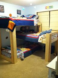 Plans For Triple Bunk Beds by Cool Triple Bunk Bed Plans L Shaped Images Design Inspiration