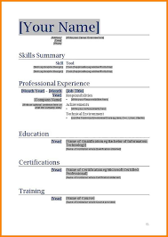 Free Printable Resume Template 4 Blank Resumes Templates Cashier Resumes