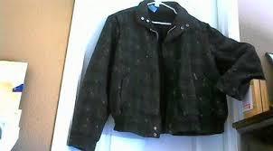 Wool Bomber Jacket Mens Atomic Fleck Wool Rockabilly Bomber Jacket By Fan Club Men U0027s