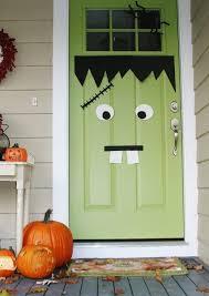 Frankenstein Door Decoration Halloween Door Inspiration A Pinteresting Story Mel Designs