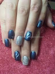 eye candy nails u0026 training navy and silver gel polish with