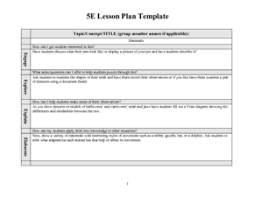 lesson plan materials