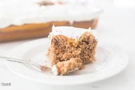 easy pumpkin spice poke cake domestically speaking