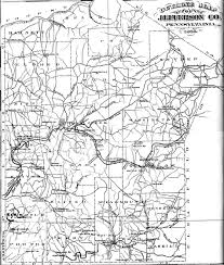Road Map Of Pennsylvania by Jefferson County Pennsylvania Atlas 1878