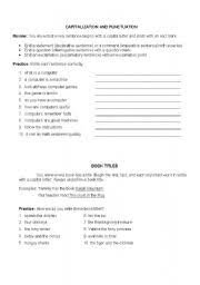 english teaching worksheets capitalization