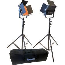 bescor al 576k led studio 2 light kit al576k b h photo