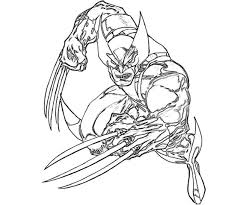 coloring pages impressive wolverine coloring pages printable