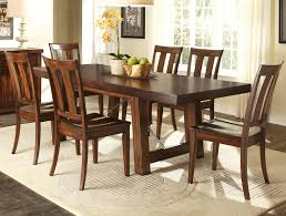 7 piece dining table with slat back chair set by liberty furniture