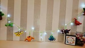 felt dinosaur kids lights fairylights dinosaur themed room