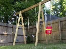 Backyard Swing Set Ideas by 76 Best Swing Sets Images On Pinterest Swing Sets Backyard