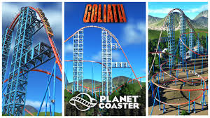 The Goliath Six Flags Planet Coaster Goliath Six Flags Magic Mountain Recreation