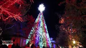 christmas on main street tree light show at silver dollar city