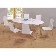 399 95 fiji high gloss oval wooden dining table set with 6 dining