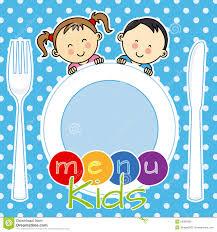 children s cards menu kids stock vector illustration of circles knife 54393290