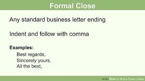 how to write a cover letter ending howsto co