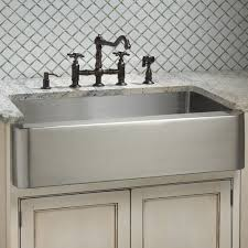 stainless steel apron sink this sink features an enormous single well and the kind of pristine
