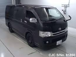 japanese vehicles toyota 2010 toyota hiace black for sale stock no 61860 japanese used