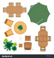 deck plan with built in benches for seating and storage top view