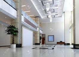 corridor lighting modern design interior of hall corridor 3d render stock photo