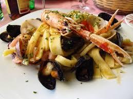 cuisine italienne pates pâtes aux fruits de mer linguine spaghetti recette italienne