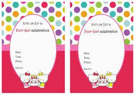 Invitation Card Hello Kitty Birthday Invitation Templates With Hello Kitty Theme Also Balloon