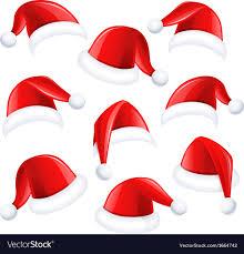 santa hats santa hats royalty free vector image vectorstock