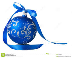 blue christmas blue christmas with ribbon bow stock images image 34369984