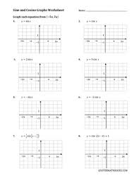 trig graphs worksheet worksheets