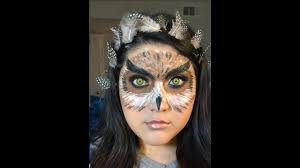 halloween owl makeup look youtube